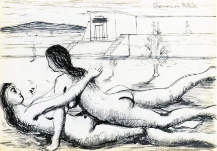 """Πωλ Ντελβώ, """"Γυμνές αγκαλιασμένες γυναίκες"""", 1935-1940"""