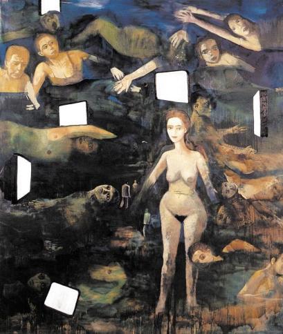 Εδουάρδος Σακαγιάν, «Λουόμενοι και οθόνες», 2005
