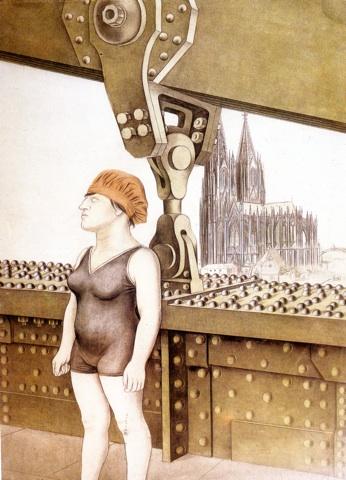 Καρλ  Χούμπουχ, «Ο κολυμβητής της Κολωνίας», 1923