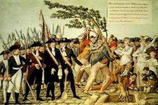 Jean Baptiste Lesueur, «Επαναστάτες φυτεύουν το δέντρο της ελευθερίας», 1790