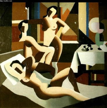 Ρενέ Μαγκρίτ, «Τρία γυμνά σε εσωτερικό χώρο», 1923