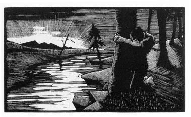 """Χαρακτικό του Ότο Νίκελαπό το λεύκωμα """"Πεπρωμένο"""", 1930"""