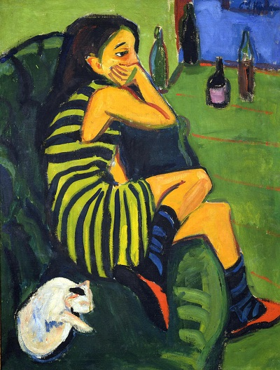 Ερνστ Λούντβιχ Κίρχνερ, «Η καλλιτέχνις/καλλιτέχνιδα Μαρκέλα», 1910