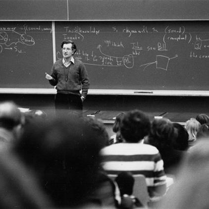 Ο Τσόμσκυ διδάσκει γλωσσολογία στο ΜΙΤ, τη δεκαετία του 1950