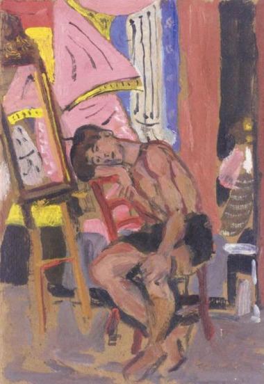 """Γιάννης Τσαρούχης, """"Καθιστός άντρας"""""""