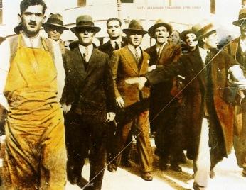 Διαδήλωση υπαλλήλων, Αθήνα, 1927 (αρχείο ΓΣΕΕ)