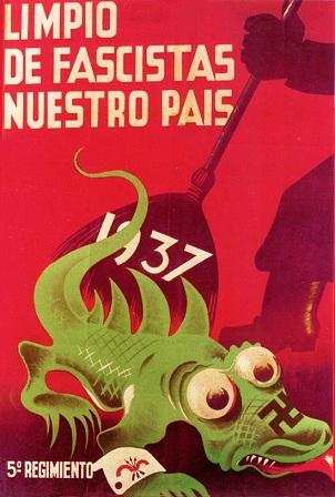Αντιφασιστική αφίσα του Ισπανικού Εμφυλίου