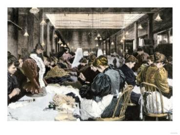 Εργάτριες, τέλη του 19ου αιώνα