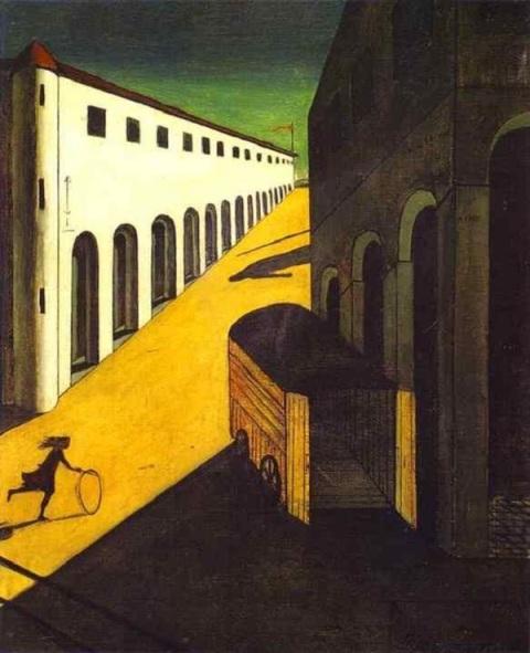 """Τζόρτζιο ντε Κίρικο, """"Το μυστήριο καιη  μελαγχολία ενός δρόμου"""", 1914"""
