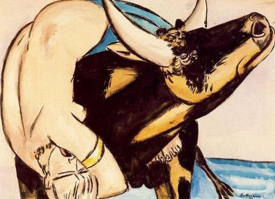 Μαξ Μπέκμαν, «Η αρπαγή της Ευρώπης», 1933