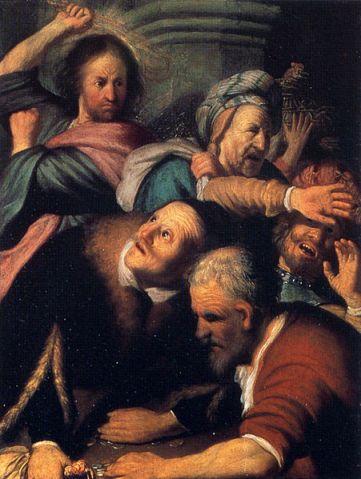 Ρέμπραντ, «O Iησούς εκδιώκει τους εμπόρους από τον ναό», 1626