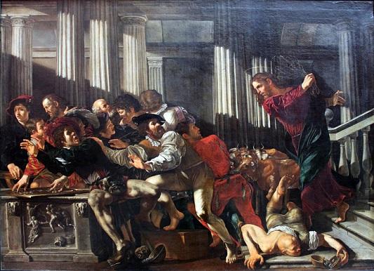 Φραντσέσκο Μπονέρι, «O Iησούς εκδιώκει τους εμπόρους από τον ναό», 1610