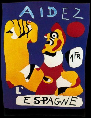 Χουάν Μιρο, «Βοηθήστε την Ισπανία», 1933