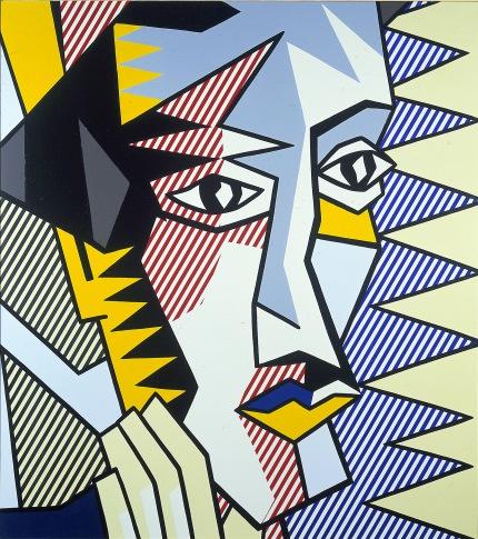 Ρ. Λιχτενστάιν, «Εξπρεσιονιστικό κεφάλι, 3», 1980