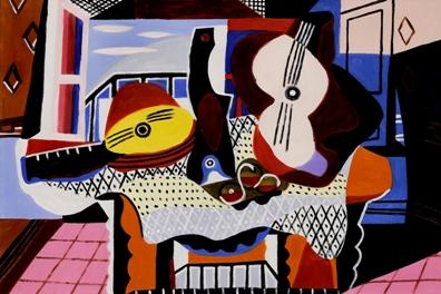 Πάμπλο Πικάσο, «Νεκρή φύση με μαντολίνο και κιθάρα», 1924