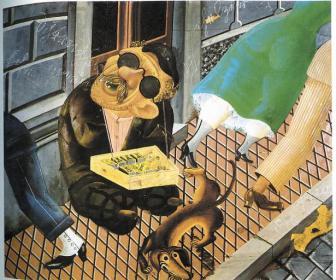 """Ότο Ντιξ, """"Ο πωλητής σπίρτων, 1″, 1920"""