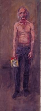 Kυριάκος Κατζουράκης, «Ο αριστερός Αρχάγγελος», από τη σύνθεση «Τέμπλο», 1992-1994. Ο πίνακας κοσμεί το εξώφυλλο του τόμου «Για τον Άγγελο»,  που μόλις εξέδωσε το Ινστιτούτο Νίκος Πουλαντζάς