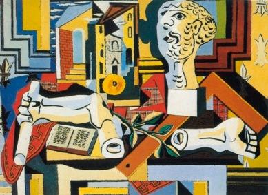 Πάμπλο Πικάσο, «Στούντιο καλλιτέχνη με μαρμάρινο μπούστο», 1925