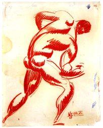 Γιόζεφ Νέμεθ Λάμπεθ, «Γυμνή πλάτη κόκκινου άντρα», 1912