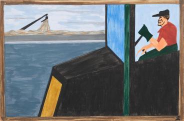 Έργο του Τζέικομπ Λώρενς από τη σειρά «Μετανάστευση», 1940-41