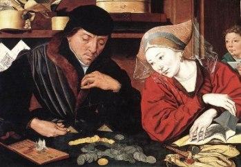 Μαρίνους βαν Ρεϊμέρσβελε, «Ο αργυραμοιβός και η γυναίκα του», π. 1540