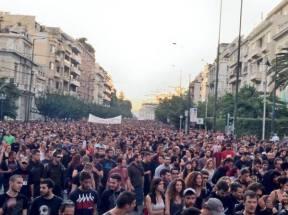 Από τη μεγάλη αντιφασιστική πορεία, Αθήνα, 25.9.2013
