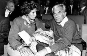 Η Λουτσιάνα Καστελίνα με τον Λούτσιο Μάγκρι
