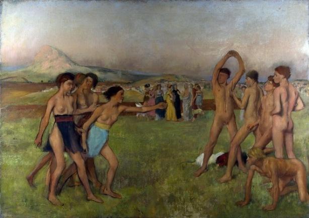 Edgar Degas, «Τα κορίτσια της Σπάρτης προκαλούν τα αγόρια», 1860-1880, 109 x 155 εκ., Λονδίνο: Εθνική Πινακοθήκη.