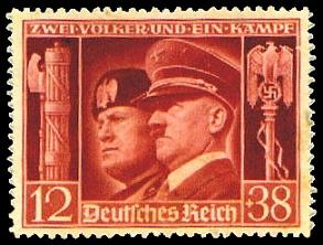 """Γραμματόσημο του Γ΄ Ράιχ: """"Δύο λαοί, ένας αγώνας"""""""