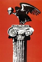 Αντιδικτατορική αφίσα που σχεδίασε ο Γιώργος Αργυράκης (από το Σπύρος Καραχάλιος, «Ελληνικές αφίσες», Κέδρος, Αθήνα 2003)