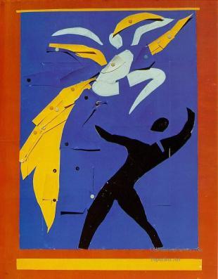 """Ανρί Ματίς, «Δύο χορευτές (σπουδή στο κόκκινο και στο μαύρο)"""", 1938"""