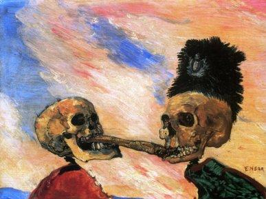 """Τζαίημς Ένσορ, """"Δυο σκελετοί παλεύουν για μια ρέγκα τουρί"""""""