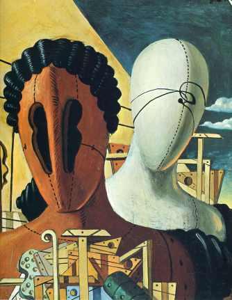 """Τζόρτζιο ντε Κίρικο, """"Οι δύο μάσκες"""""""