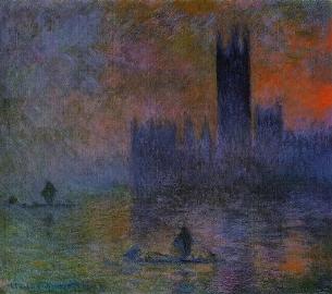 Κλωντ Μονέ, «Βρεττανικό Κοινοβούλιο (το εφέ της αιθαλομίχλης)», 1903-1904.