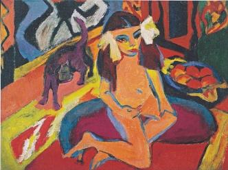 Ερνστ Λούντβιχ Κίρχνερ, «Κορίτσι με γάτα», 1910