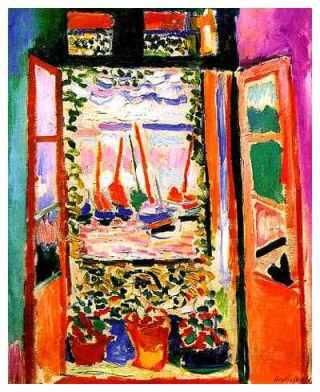 """Ανρί Ματίς, """"Ανοιχτό παράθυρο"""", 1905"""