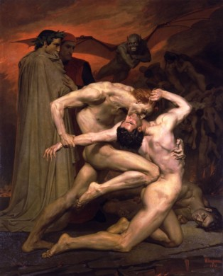 """Γ. Μποζερώ, """"Ο Δάντης και ο Βιργίλιος στην Κόλαση"""", 1850"""