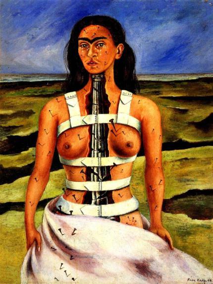 """Φρίντα Κάλο, """"Σπασμένη στήλη"""", 1944"""