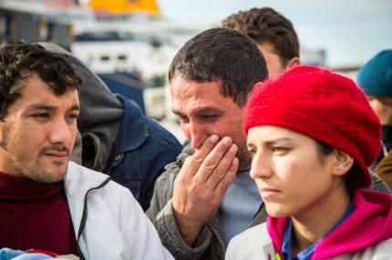 Η άφιξη στον Πειραιά, 23.1.2013. Φωτογραφία του Άγγελου Καλοδούκα από το left.gr