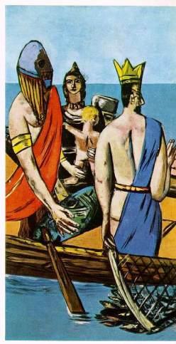 Μαξ Μπέκμαν, «Αναχώρηση» (λεπτομέρεια), 1935