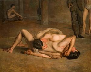 """Thomas Eakins, """"Oι παλαιστές"""", 1899"""