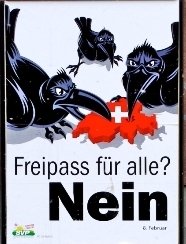 Παλιότερα αφίσα του SVP κατά της μετανάστευσης