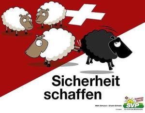 Παλιότερη αφίσα του SVP κατά της μετανάστευσης