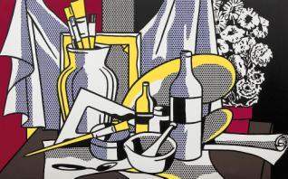 """Ρόι Λιχχτενστάιν, """"Νεκρή φύση με παλέτα"""", 1972"""