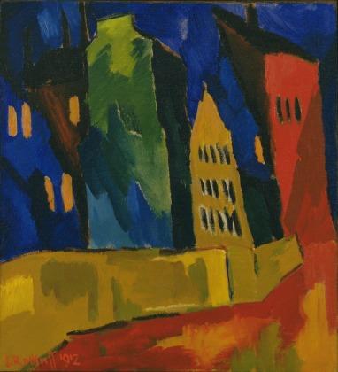Kαρλ Σμιντ-Ρότλουφ, «Σπίτια τη νύχτα», 1912