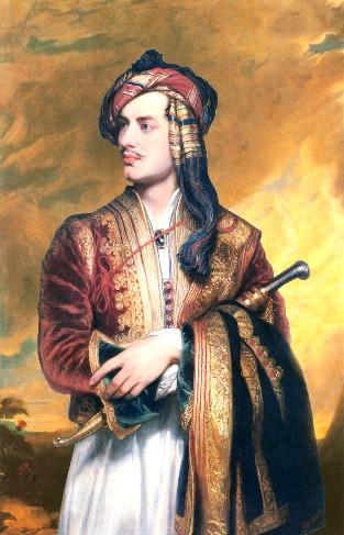 Πορτρέτο του Βύρωνα από τον Τόμας Φίλιππς, 1835.