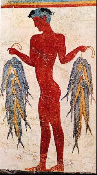 Τοιχογραφία από τον προιστορικό Ακρωτήρι
