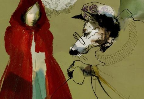Έργο του Daniel Egnéus, από τη σειρά «Κοκκινοσκουφίτσα»