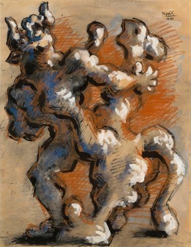 """Ζακ Λιπσιέτς, """"Η αρπαγή της Ευρώπης, ΙV"""", 1941"""