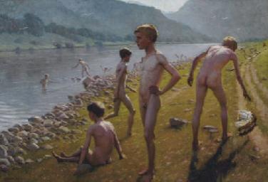 "A. Schück, ""Aγόρια στο ποτάμι"""